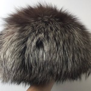 PMK Russian Silver Fox Fur Hat